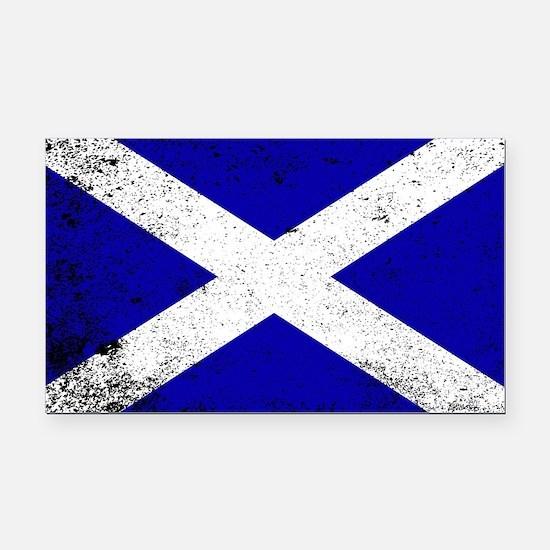 Cute Scottish flag Rectangle Car Magnet
