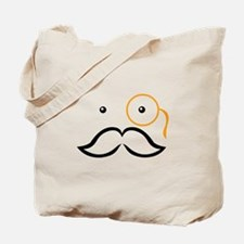 Monocle and Mustache Gentleman Tote Bag