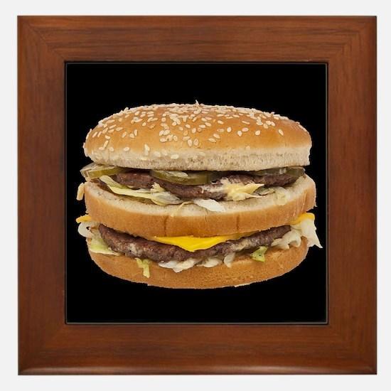 Double Cheeseburger Framed Tile