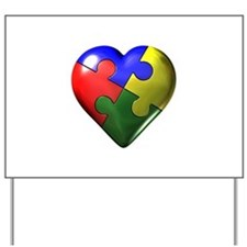 Puzzle Heart Yard Sign