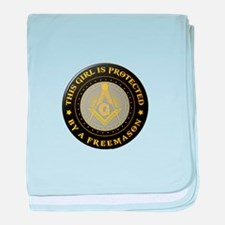 Protected by Freemason baby blanket