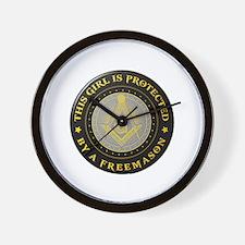Protected by Freemason Wall Clock