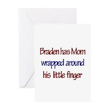 Braden - Mom Wrapped Around Greeting Card