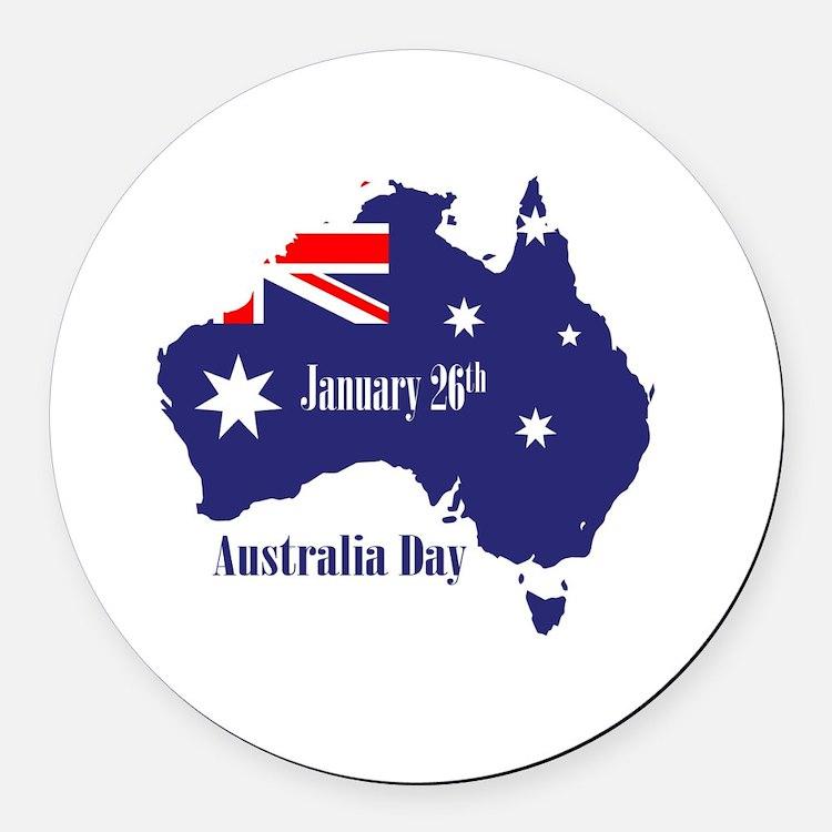 Cute Australia day Round Car Magnet