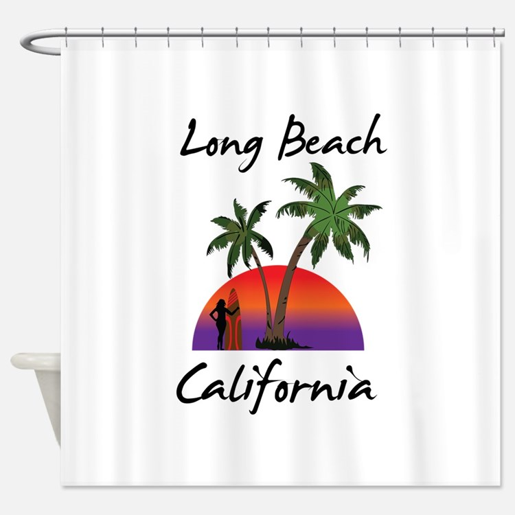 Long Beach California Shower Curtain