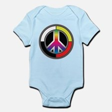 Peace Rainbow Circle Body Suit