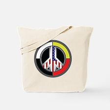 Peace America Circle Tote Bag