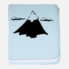 Mountain top baby blanket