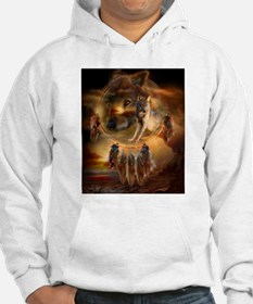 Wolf Land Dream Catcher Hoodie