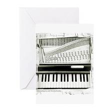 Piano Sq Greeting Cards (Pk of 20)
