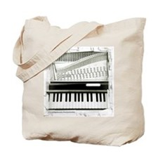 Piano Sq Tote Bag