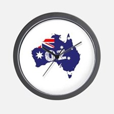 Cute Australia flag Wall Clock