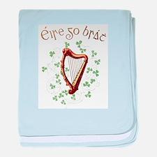 Irish Gaelic Erin Go Bragh Harp baby blanket