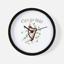 Irish Gaelic Erin Go Bragh Harp Wall Clock