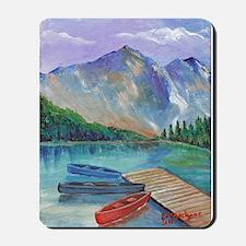 Lake Boat Mousepad