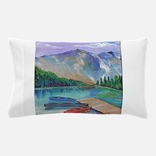 Lake Boat Pillow Case
