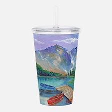 Lake Boat Acrylic Double-wall Tumbler