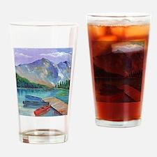 Lake Boat Drinking Glass