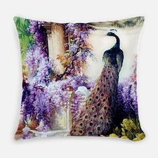 Bidau Peacock, Wisteria, Doves Everyday Pillow