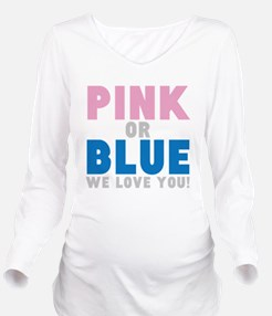 PINK OR BLUE Long Sleeve Maternity T-Shirt