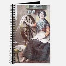 Irish Woman at her Spinning Wheel Journal