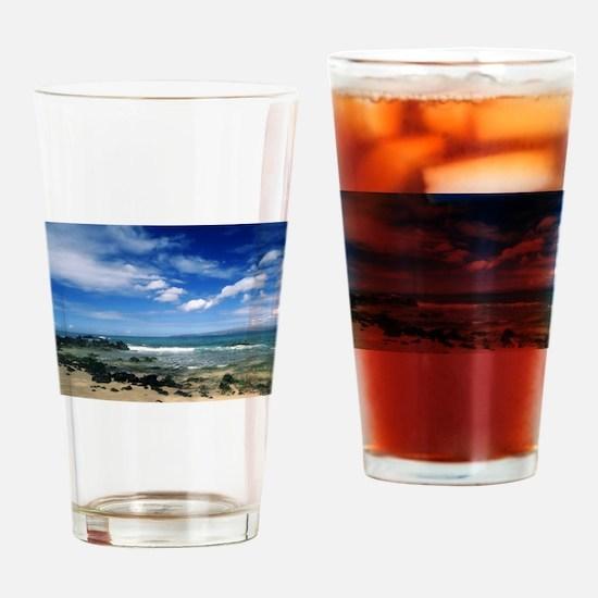 blue ocean Drinking Glass