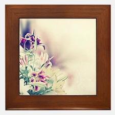 Vintage Flowers Framed Tile