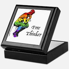 Funny Free thinking Keepsake Box
