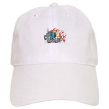 Hot Rod (Flames) 18 Wheeler Truck Baseball Cap