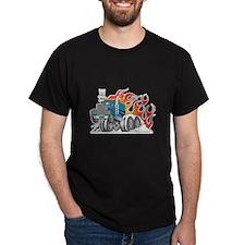 Hot Rod (Flames) 18 Wheeler Truck T-Shirt