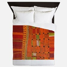 Australian Aboriginal Art in Orange Red Queen Duve