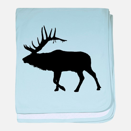 Bull Elk Silhouette baby blanket