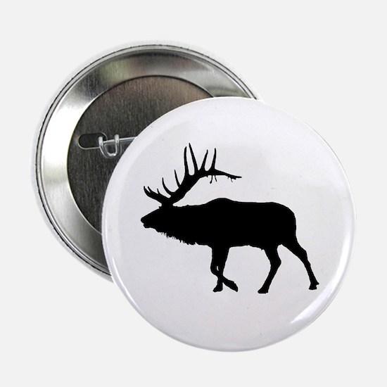 "Bull Elk Silhouette 2.25"" Button"
