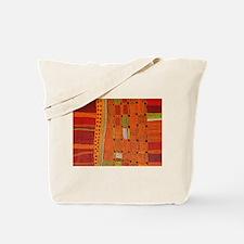 Australian Aboriginal Art in Orange Red Tote Bag