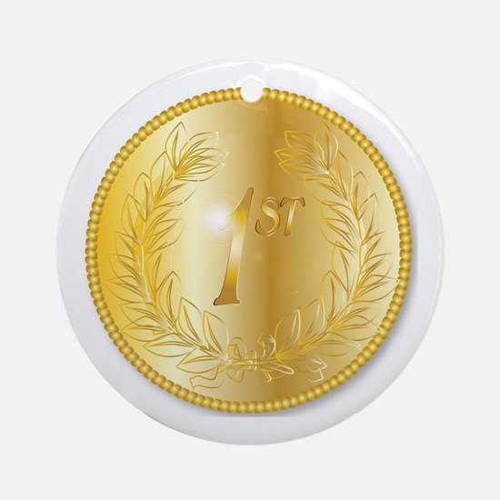 Cute Gold medal Round Ornament