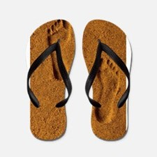 sand footprints, Flip Flops