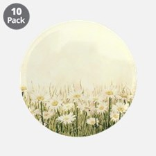 """Rustic Daisies 3.5"""" Button (10 pack)"""