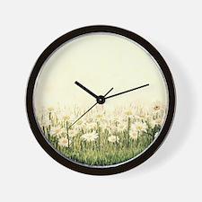 Rustic Daisies Wall Clock