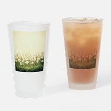 Rustic Daisies Drinking Glass