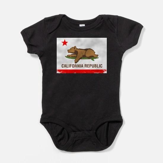 Unique California flag Baby Bodysuit