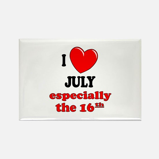 July 16th Rectangle Magnet