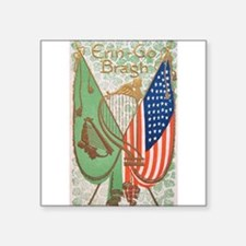 Irish American Flags Erin Go Bragh Sticker