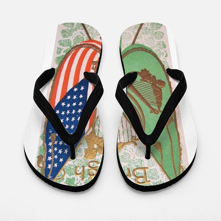 Irish American Flags Erin Go Bragh Flip Flops