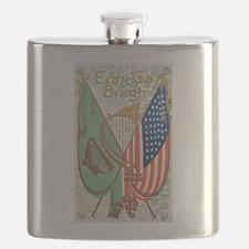 Irish American Flags Erin Go Bragh Flask