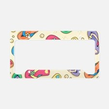 Colorful Flip Flops License Plate Holder