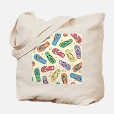 Colorful Flip Flops Tote Bag