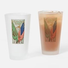 Irish American Flags Erin Go Bragh Drinking Glass
