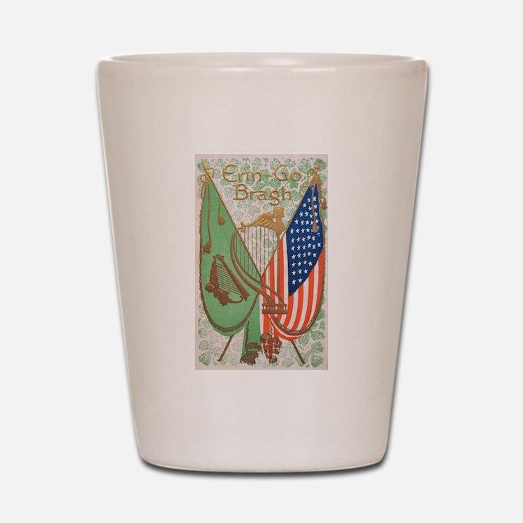 Irish American Flags Erin Go Bragh Shot Glass