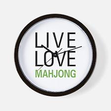 Live Love Mahjong Wall Clock