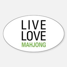 Live Love Mahjong Oval Decal